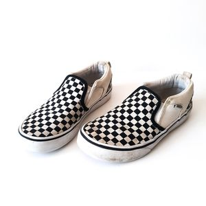 Kids Checkered Slip On Van's Low Top Size 2